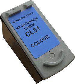 COMPATIBLE CANON - CL51 couleur (18 ml) Cartouche d'encre recyclée