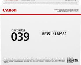 CANON ORIGINAL - Canon 039 Noir (11000 pages) Toner de marque
