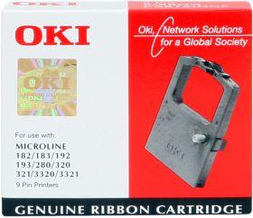 OKI 09002303 Noir (3 MC) Ruban encreur de marque