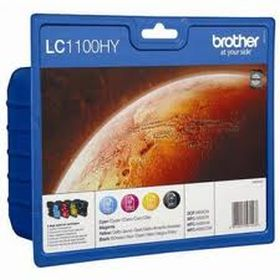 BROTHER ORIGINAL - Brother LC-1100HY Pack de 4 Cartouches (Noir, Cyan, Magenta, Jaune)