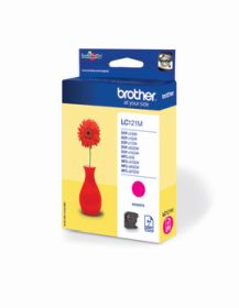 BROTHER ORIGINAL - Brother LC-121 Magenta (260 pages) Cartouche de marque