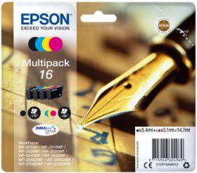 EPSON ORIGINAL - Epson 16 Pack 4 cartouches (Noir, Cyan, Magenta, Jaune)