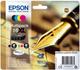 EPSON ORIGINAL - Epson 16XL Pack 4 cartouches de marque T1636XL