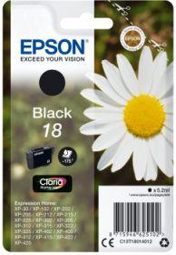 EPSON ORIGINAL - Epson 18 Noir (5,2 ml) Cartouche de marque