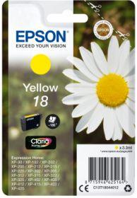 EPSON ORIGINAL - Epson 18 Jaune (3,3 ml) Cartouche de marque