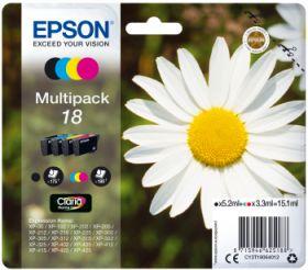 EPSON ORIGINAL - Epson 18 Pack 4 cartouches (Noir, Cyan, Magenta, Jaune)