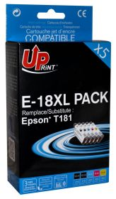 UPRINT/ QUALITE PREMIUM - UPrint 18XL Pack 5 cartouches remanufacturées Epson Qualité Premium