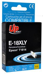 UPRINT/ QUALITE PREMIUM - UPrint 18XL Jaune (9 ml) Cartouche remanufacturée Epson Qualité Premium