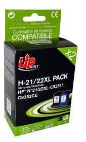 UPRINT - UPrint 21XL et 22XL Lot de 2 Cartouches remanufacturées HP Qualité Premium noir et couleur (20ml + 18ml)