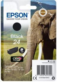EPSON ORIGINAL - Epson 24 Noir (5,1 ml) Cartouche de marque