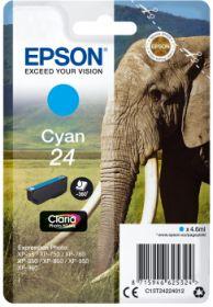 EPSON ORIGINAL - Epson 24 Cyan (4,6 ml) Cartouche de marque