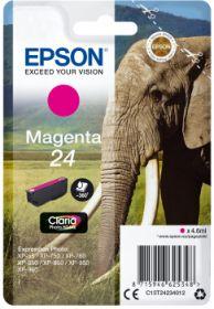EPSON ORIGINAL - Epson 24 Magenta (4,6 ml) Cartouche de marque