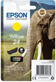 EPSON ORIGINAL - Epson 24 Jaune (4,6 ml) Cartouche de marque