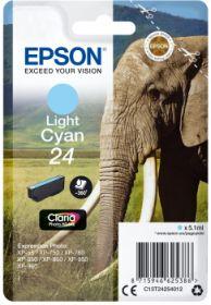 EPSON ORIGINAL - Epson 24 Cyan Clair (4,6 ml) Cartouche de marque
