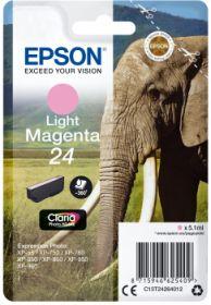 EPSON ORIGINAL - Epson 24 Magenta Clair (4,6 ml) Cartouche de marque