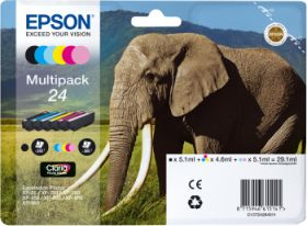 EPSON ORIGINAL - Epson 24 Pack de 6 cartouches de marque T2428