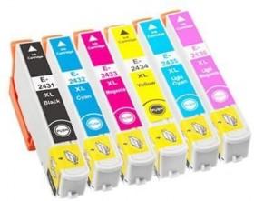 COMPATIBLE EPSON - PROMO 24XL ! Pack 6 cartouches génériques T2438XL