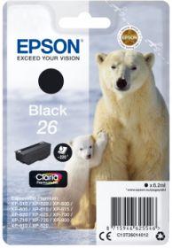 EPSON ORIGINAL - Epson 26 noir (4,7 ml) T2601 Cartouche de marque