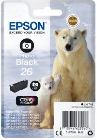 EPSON ORIGINAL - Epson 26 noir photo (4,7 ml) T2611 Cartouche de marque