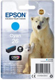 EPSON ORIGINAL - Epson 26 cyan (4,5 ml) T2612 Cartouche de marque
