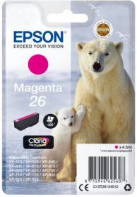 EPSON ORIGINAL - Epson 26 magenta (4,5 ml) T2613 Cartouche de marque