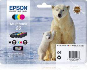 EPSON ORIGINAL - Epson 26 – Pack de 4 cartouches T2616 (noir, cyan, magenta, jaune)