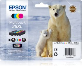 EPSON ORIGINAL - Epson 26XL - Pack 4 cartouches T2636XL