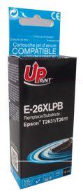 UPRINT/ QUALITE PREMIUM - UPrint 26XL noir photo (15 ml) Cartouche générique Epson Qualité Premium