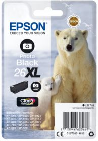 EPSON ORIGINAL - Epson 26XL Noir Photo (8,7 ml)