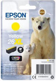 EPSON ORIGINAL - Epson 26XL jaune  (9,7 ml) Cartouche  de marque T2634