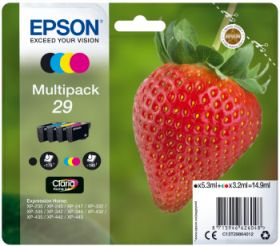 EPSON ORIGINAL - Epson 29 - Multipack 4 cartouches authentiques: T2981 + T2982 + T2983 + T2984 - 14,9 ml