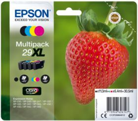 EPSON ORIGINAL - Epson 29XL - Multipack 4 cartouches authentiques: T2996 - 30,5 ml