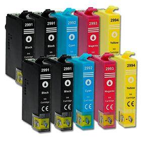 COMPATIBLE EPSON - 29XL Maxi Pack de 10 Cartouches génériques