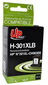 UPRINT - UPrint 301XL Noir (20ml) Cartouche remanufacturée HP Qualité Premium
