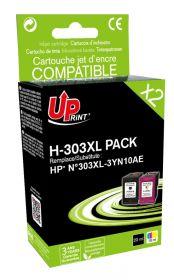 UPRINT - UPrint 303XL / 3YN10AE Pack de 2 cartouches noire + couleurs remanufacturées HP Qualité Premium