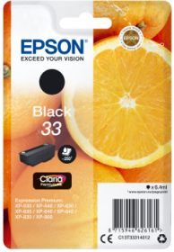 EPSON ORIGINAL - Epson 33 noire (6,4 ml) Cartouche de marque T3331