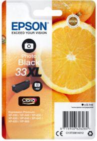 EPSON ORIGINAL - Epson 33XL noir photo (8,1 ml) Cartouche de marque T3361