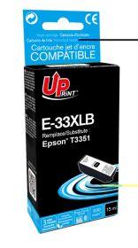 UPRINT/ QUALITE PREMIUM - UPrint 33XL noire (15 ml) Cartouche remanufacturée Epson Qualité Premium