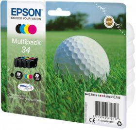 EPSON ORIGINAL - Epson 34 - Pack 4 cartouches T3466 (noir, Cyan, Magenta, Jaune)