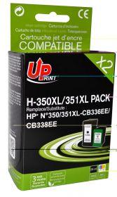 UPRINT - UPrint 350XL (Noir) + 351XL (Couleurs) Pack x2 cartouches remanufacturées HP Qualité Premium