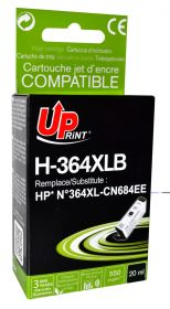 UPRINT/ QUALITE PREMIUM - UPrint 364XL noir (20 ml) Cartouche Qualité Premium remanufacturée HP