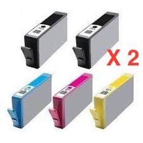 COMPATIBLE HP - 1 ACHETE=1 OFFERT ! Pack de 5 cartouches génériques 364XL
