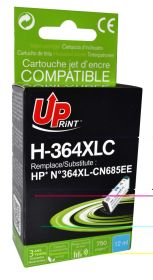 UPRINT/ QUALITE PREMIUM - UPrint 364XL cyan (12 ml) Cartouche Qualité Premium remanufacturée HP