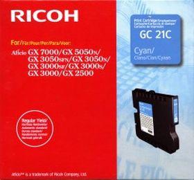 RICOH ORIGINAL - Ricoh GC-21 Cyan (1000 pages) Cartouche gel de marque