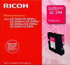 RICOH ORIGINAL - Ricoh GC-21 Magenta (1000 pages) Cartouche gel de marque