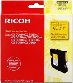 RICOH ORIGINAL - Ricoh GC-21 Jaune (1000 pages) Cartouche gel de marque
