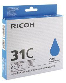 RICOH ORIGINAL - Ricoh GC-31 Cyan (1500 pages) Cartouche gel de marque