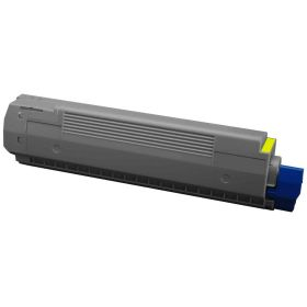 COMPATIBLE OKI - 44643001 Jaune (7300 pages) Toner remanufacturé