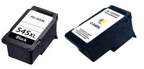 COMPATIBLE CANON - PG-545XL Noir et CL-546XL couleurs Pack 2 cartouches remanufacturées  (15 ml + 13 ml)