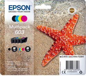 EPSON ORIGINAL - Epson 603 (16 ml) Multipack de 4 cartouches de marque Noir, Cyan, Magenta, Jaune